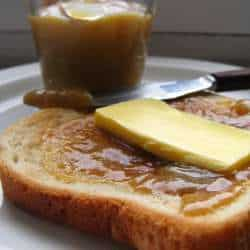 Malaysian coconut jam and butter on with toast bread