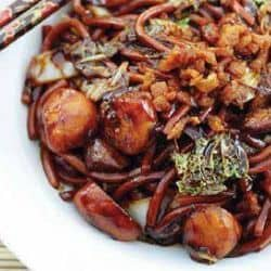 Mee goreng mamak with lobster